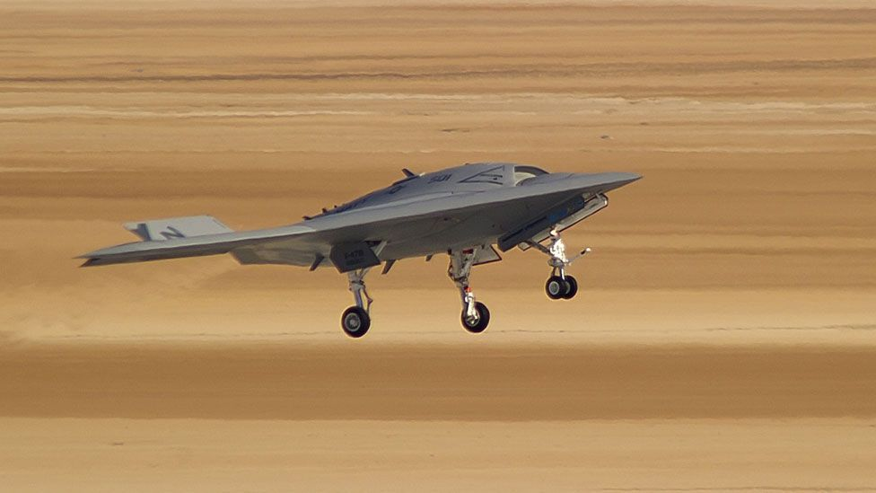 If all of the tests go well, the stealthy craft will try an assisted take off from the deck in 2013, although it will land on dry land. (Copyright: Northrop Grumman)