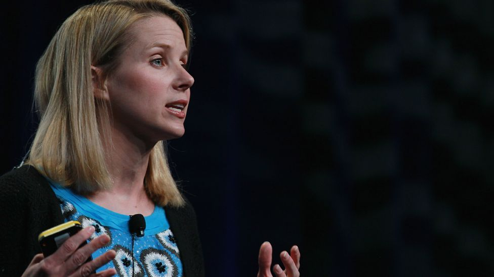 The US business figure left Google to become president and CEO of troubled internet giant Yahoo! in July; she was Yahoo!'s third CEO in a year. (Copyright: Getty Images)