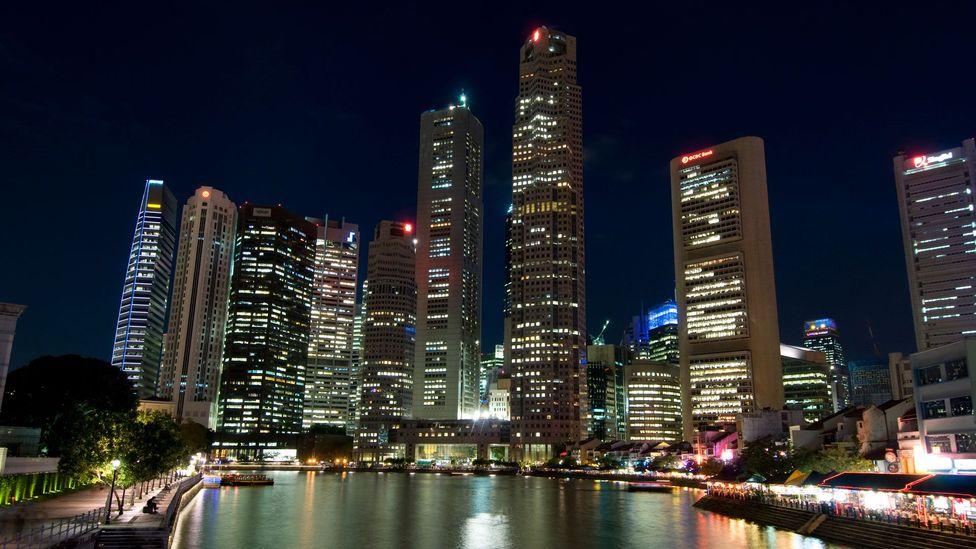 Singapore, skyline, Singapore River