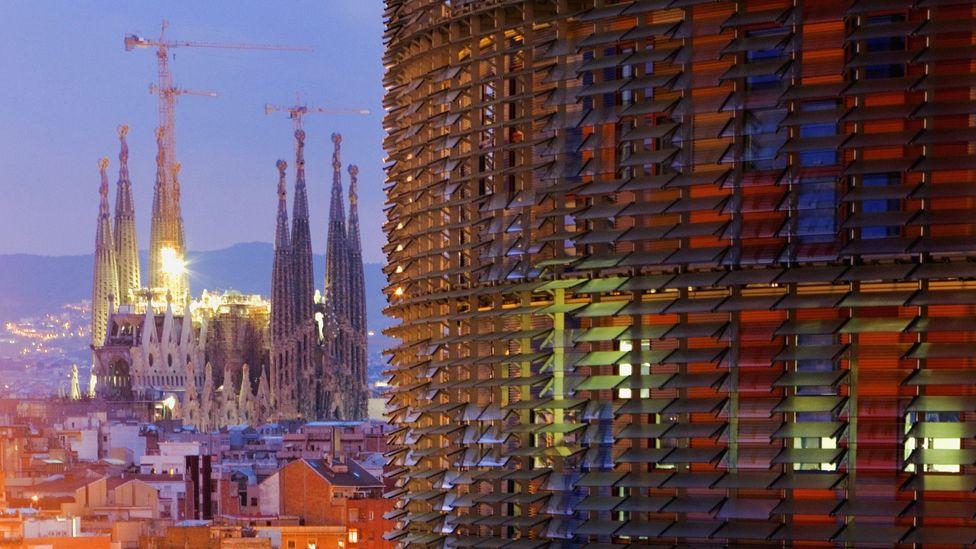 Barcelona, Antoni Gaudi's Sagrada Familia, Jean Nouvel's Torre Agbar skyscraper