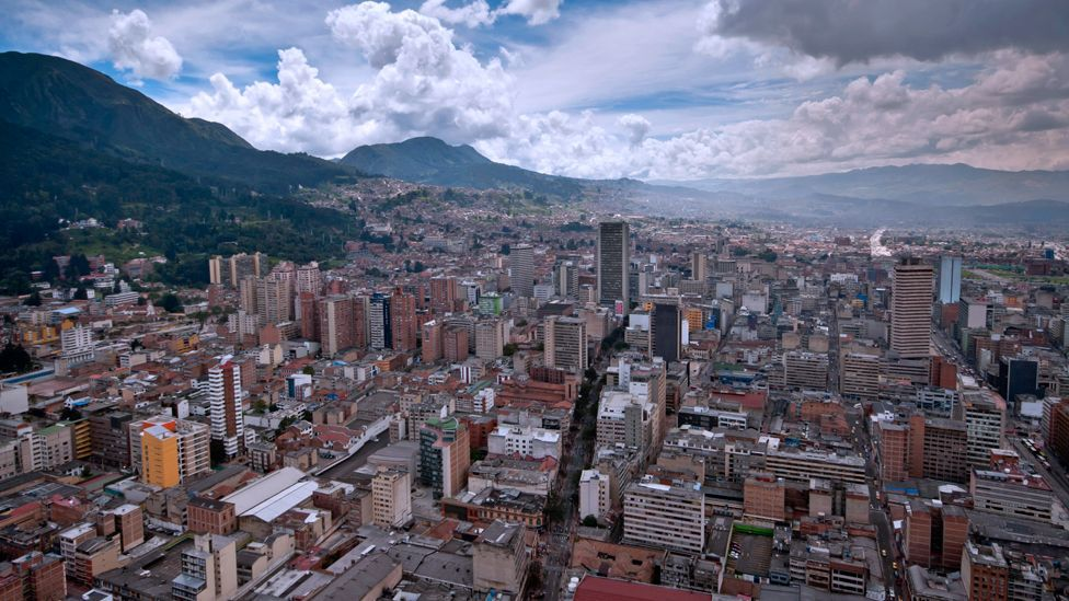Cars are banned from the streets of Bogota, Columbia on Sundays; the streets filled instead with pedestrians, cyclists and rollerbladers. (Copyright: Getty Images)