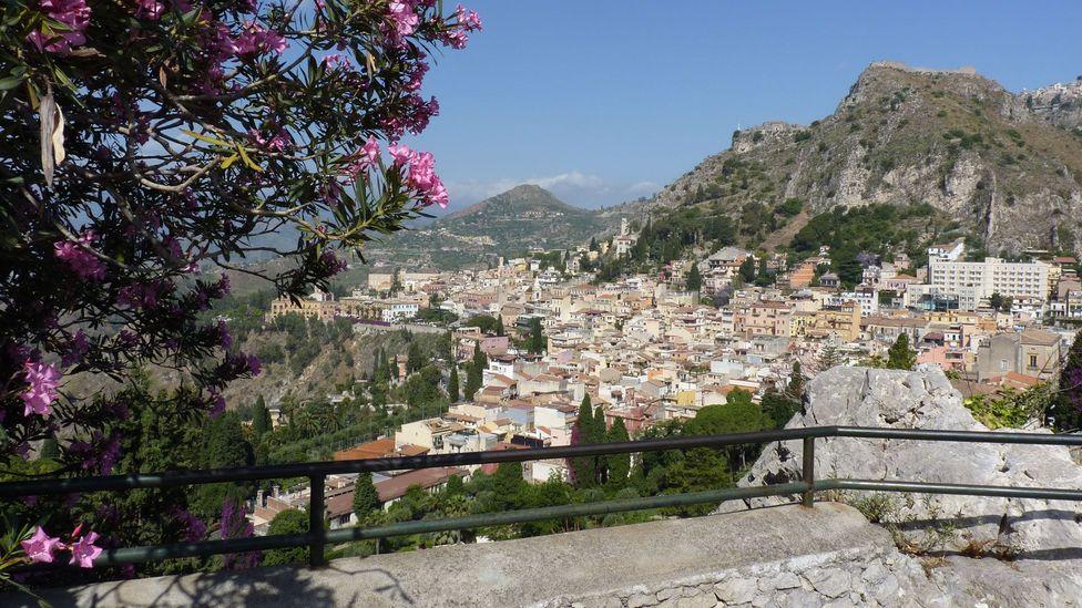 Taormina, Sicily, Italy, mountain