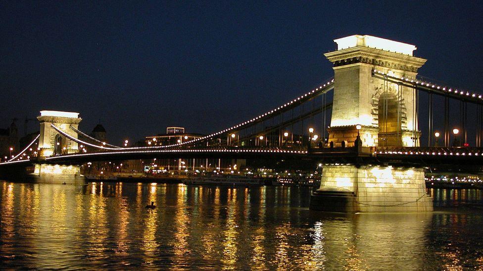 Budapest's Chain bridge crossing the River Danube (BBC)