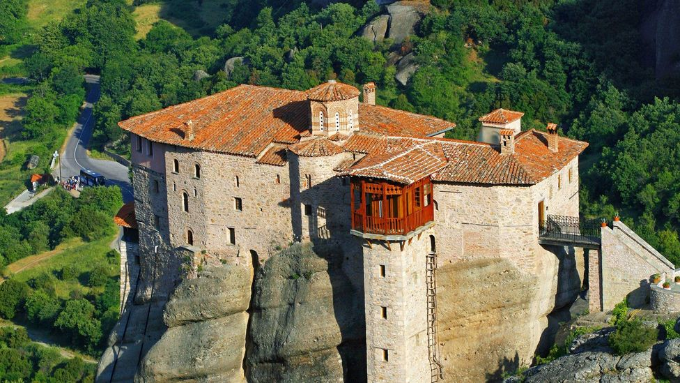 The Holy Monastery of Rousanou, one of the six still in operation in Meteora, was founded around 1545. (Jean-Pierre Lescourret/LPI)