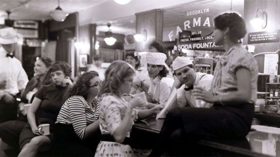 The staff at the Brooklyn Farmacy and Soda Fountain poses for a photo. (Pushet Irby Photography)