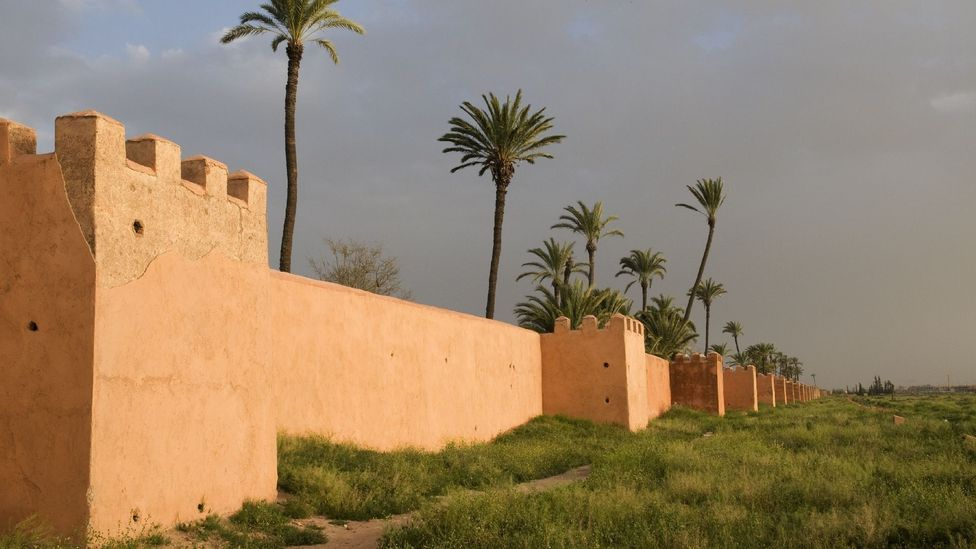 The ochre-coloured ramparts of the Marrakech Agdal. (Olivier Cirendini/LPI)