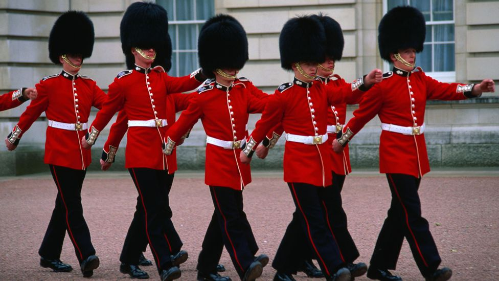 The changing of the guards at Buckingham Palace. (Manfred Gottschalk/LPI)