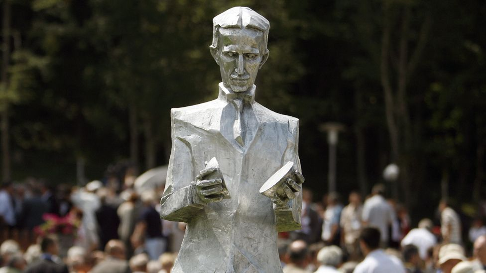 One of several new monuments to commomereate scientist Nikola Tesla (Copyright: Getty Images)
