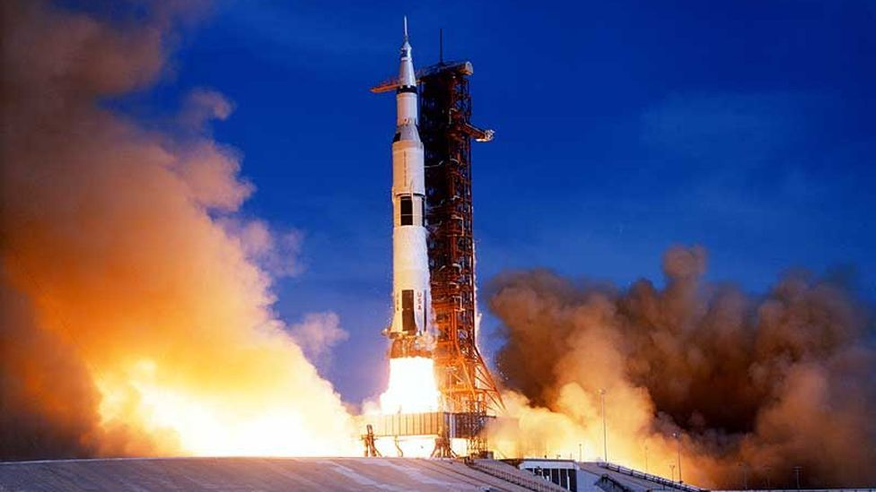 On 26 July 1971 Apollo 15 blasted in orbit from the Kennedy Space Center, at Cape Canaveral, Florida. (Copyright: Nasa)