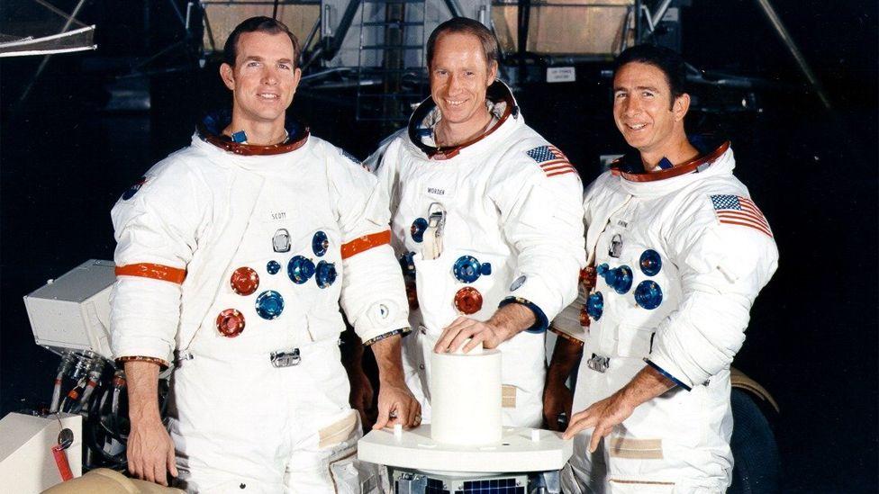 On board were Commander David Scott, Command Module Pilot Alfred Worden and Lunar Module Pilot James Irwin. (Copyright: Nasa)