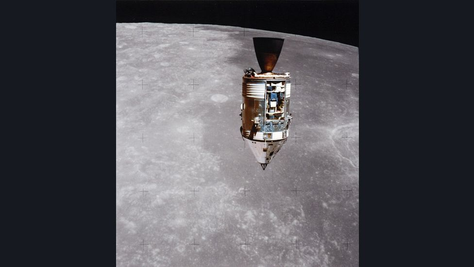 Falcon lifted off from the lunar surface on 2 August to rendezvous with Worden and the Command Module Endeavour. (Copyright: Nasa)
