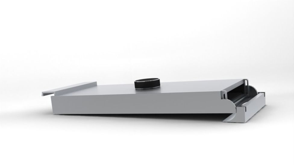 Williams says cooking in the upright position might have caused fire safety issues because of crumbs, so the toaster is laid flat for toasting. (Copyright: Ausen Design)