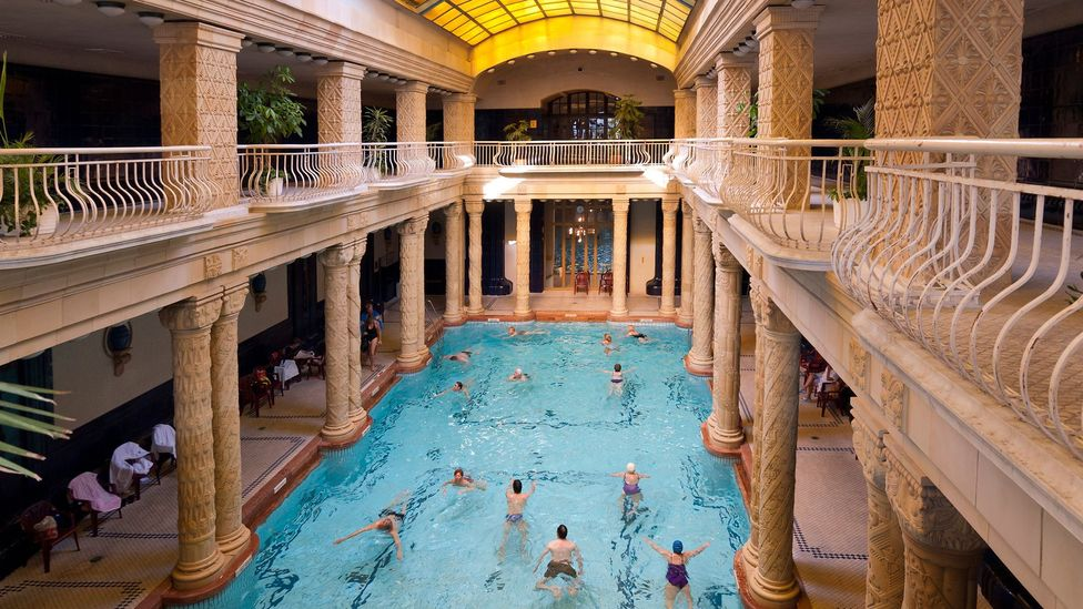 Budapest, Hungary, thermal waters, spas, Gellért