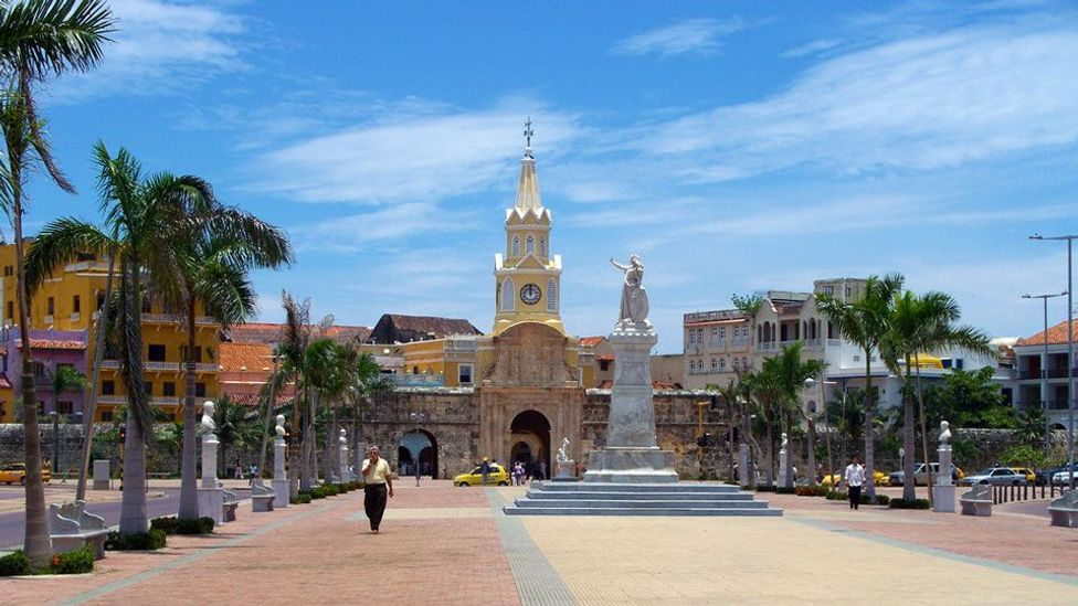 Colombia, Cartagena, Torre del Reloj, clock tower, clock, Pedro de Heredia