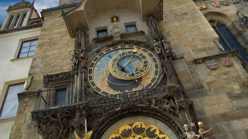 Prague, Hanus, Old Town Hall Tower, clock, clock tower, Czech Republic