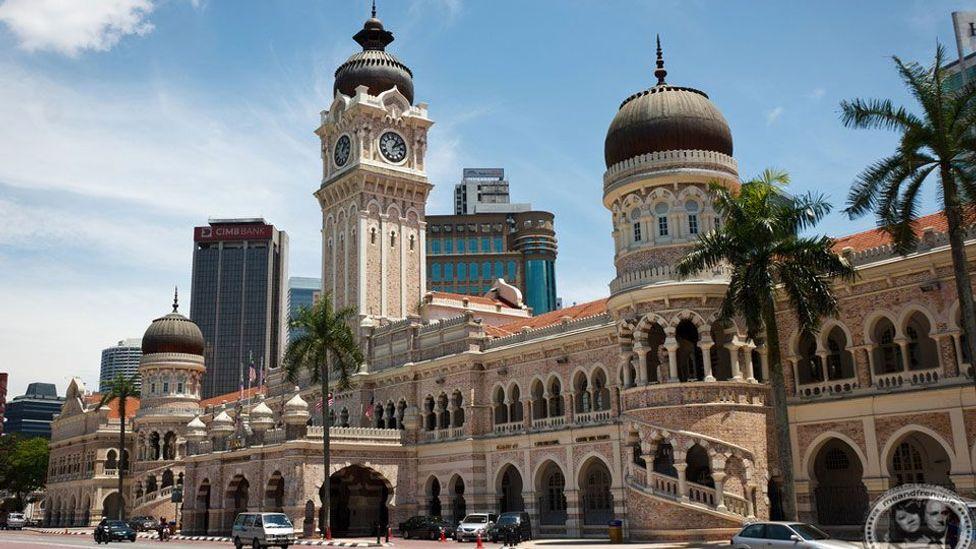 Malaysia, Sultan Abdul Samad Building, Merdeka Square, Moorish, clock, clock tower