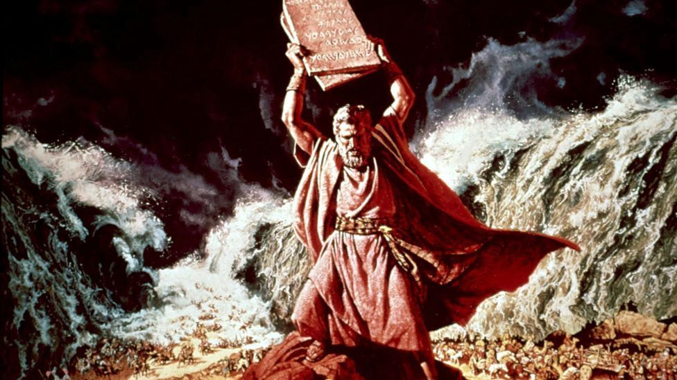 Charlton Heston appeared in another biblical hit, The Ten Commandments, in 1956. It was the best-performing movie at the US box office that year. (Rex Features)