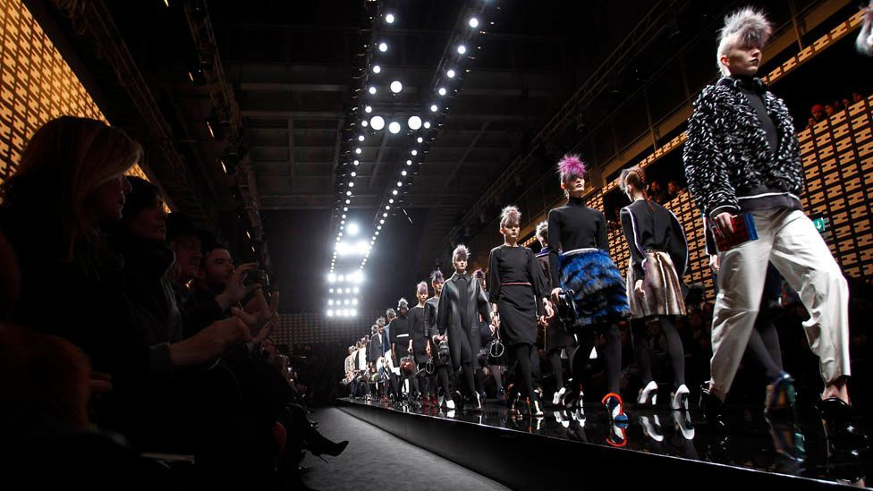 Fendi's autumn/winter 2013 collection drew on the punk aesthetic with the models sporting severe Mohawk hairstyles that recalled the original movement's anarchic attitude. (Corbis)