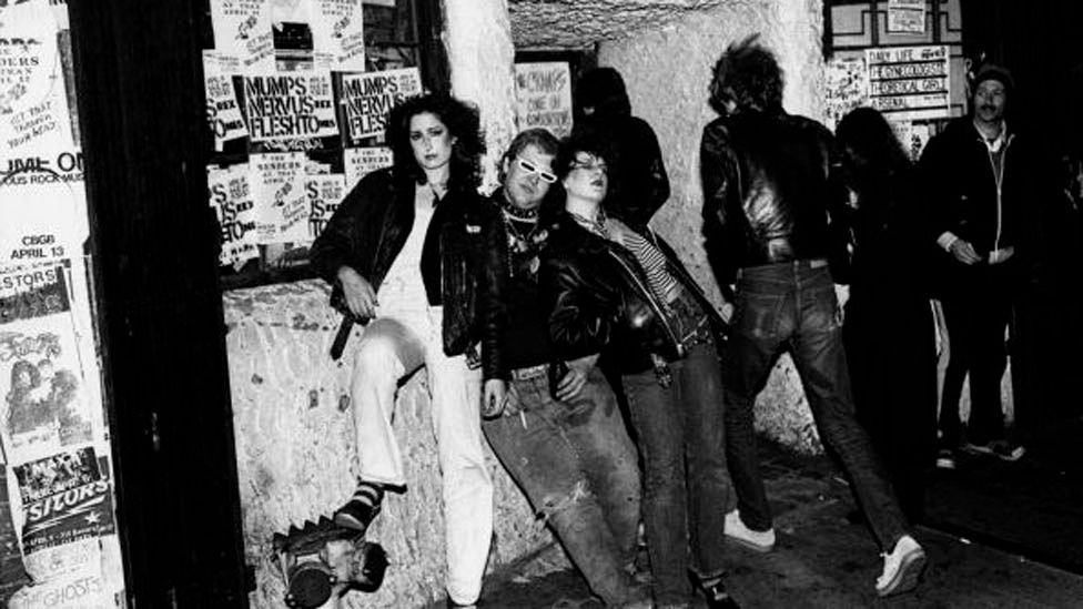 Iconic New York music venue CBGB regularly played host to bands such as the Ramones, and was a gathering place for punks. (Getty)