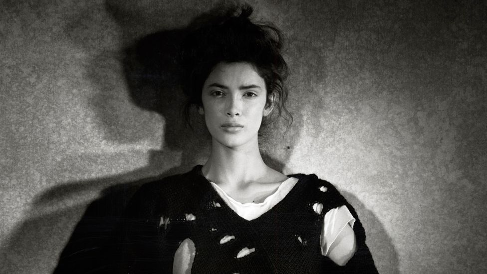 Comme des Garçons was one of the first designer labels to incorporate deconstructed elements into its clothing in 1982. (Peter Lindbergh)