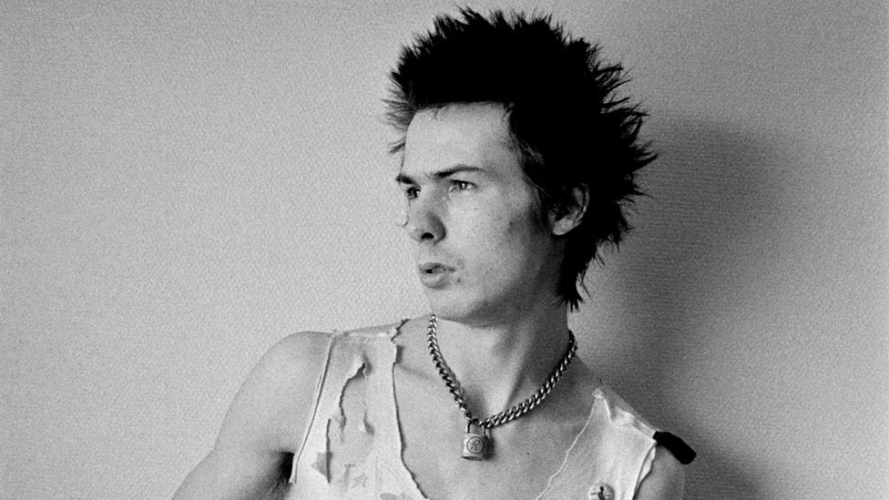 After his death, Sid Vicious of the Sex Pistols came to embody the nihilistic, anarchic sensibility of punk. (Dennis Morris)