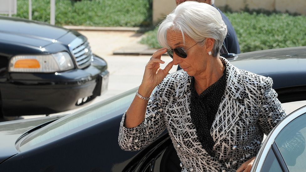 The IMF boss is considered by commentators to be a fashion icon in the making, and is photographed wherever she goes. (Getty)