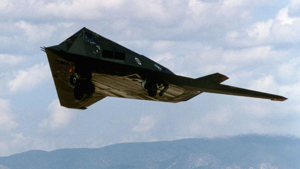 Although flown by pilots, the unwieldy shape of stealth aircraft requires computers that constantly adjust flight surfaces to keep the it in the air. (Copyright: Lockheed Martin)