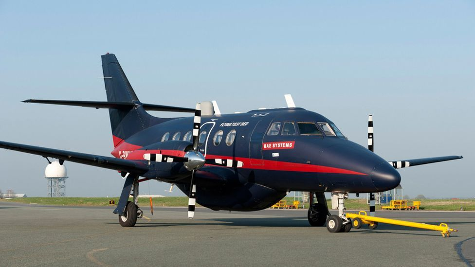 Technology that does away with the pilot is now being tested in passenger craft, such as this converted Jetstream flown in 2012 by BAE Systems. (Copyright: BAE Systems)
