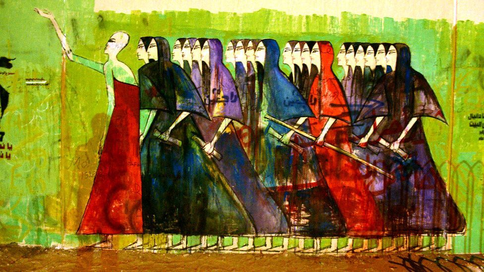 The art of ancient Egypt is a huge influence on the work of Alaa Awad, a prominent member of the country's new generation of street artists. (Alaa Awad)