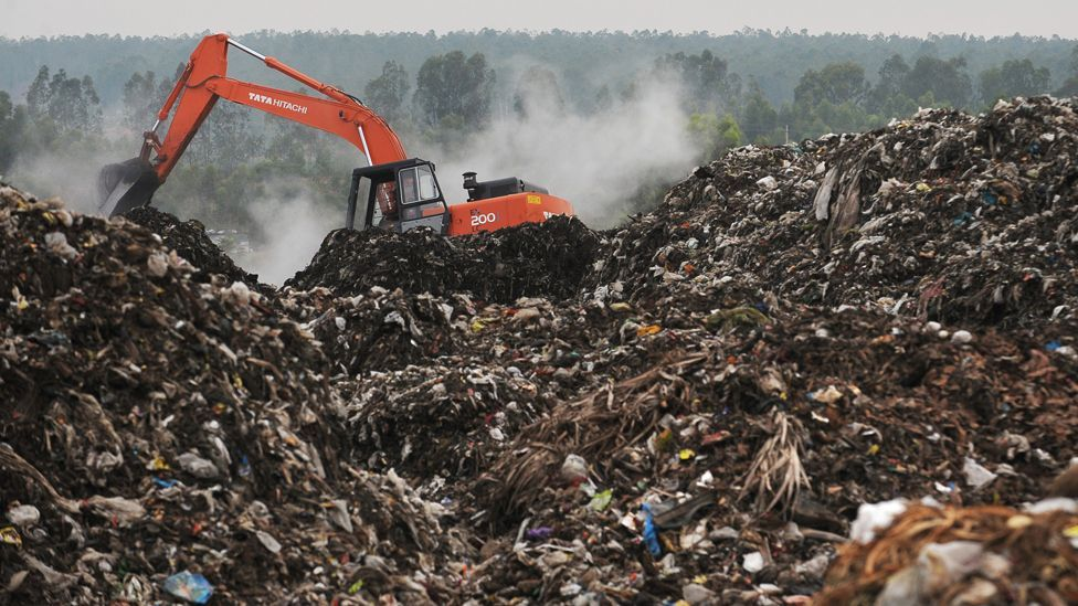 The effects of a disposable consumer culture have created a landfill timebomb across the world. Three billion extra people will add further strain. (Copyright: AFP/Getty Images)