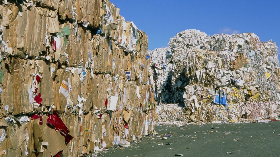 Paper will have to be recycled more to ease strain on landfills –New York throws out enough to fill the Empire State Building every two weeks. (Copyright: Science Photo Library)
