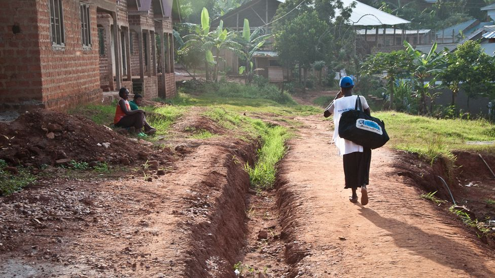 Living Goods, a San Francisco-based social enterprise, sells affordable health care essentials to Uganda's poor through an Avon Lady-style network. (All photos: Jonathan Kalan)