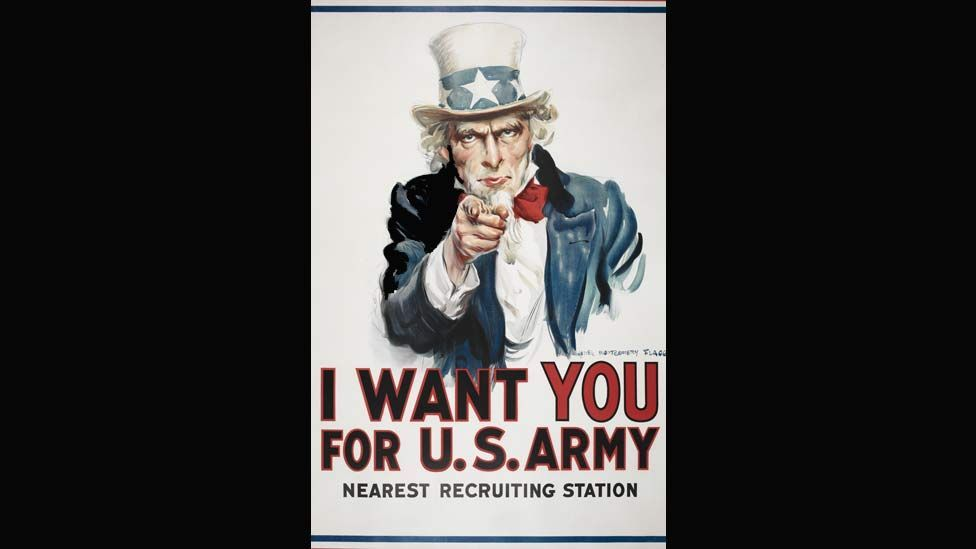 Over four million copies of this poster were printed between 1917 and 1918. The Uncle Sam image is now an American cultural icon. (Photo: British Library)