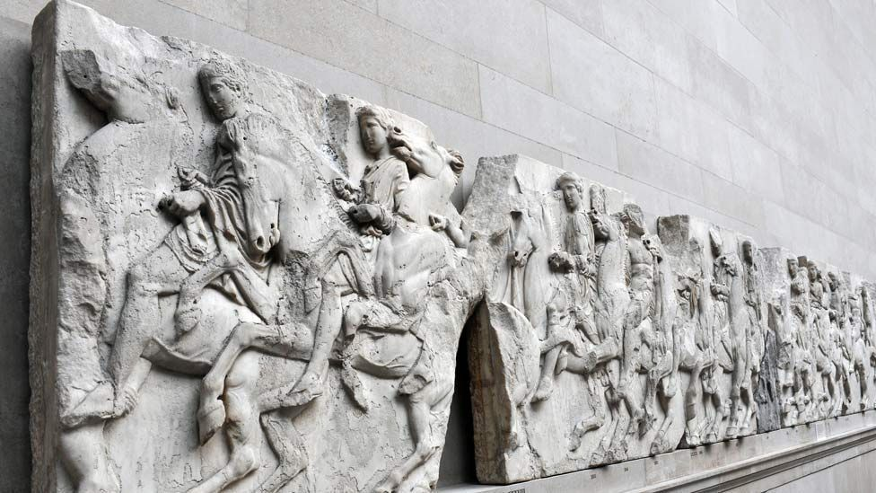 The Parthenon sculptures held in the British Museum, sometimes referred to as the 'Elgin marbles', extol the virtues of the Athenians against their enemies. (Photo: BBC)
