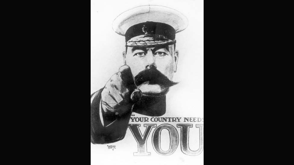 The famous Lord Kitchener image used to recruit soldiers at the start of WWI is an example of an effective propaganda image with little artistic merit. (Photo: Hulton Getty)