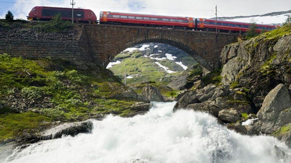 railroad oslo bergen train, Norway