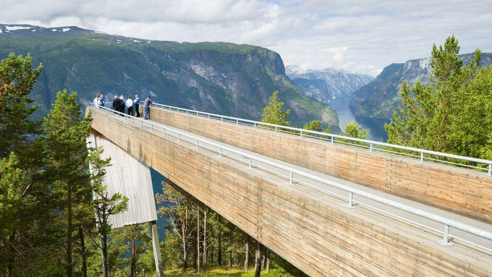 Stegastein viewpoint norway Aurlandsfjord