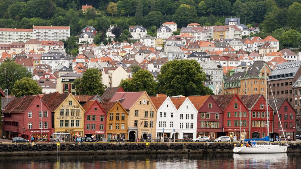 europe bergen wharf Bryggen  norway