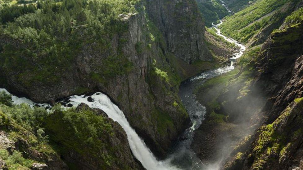 Vøringsfossen waterfall near Eidfjord, Norway