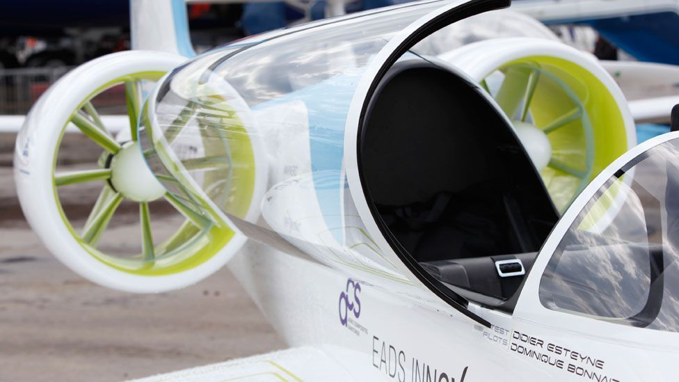 Two multi-cell lithium ion battery packs in each wing provides just under an hour's flying at around 160kph (100 mph). (Copyright: EADS)