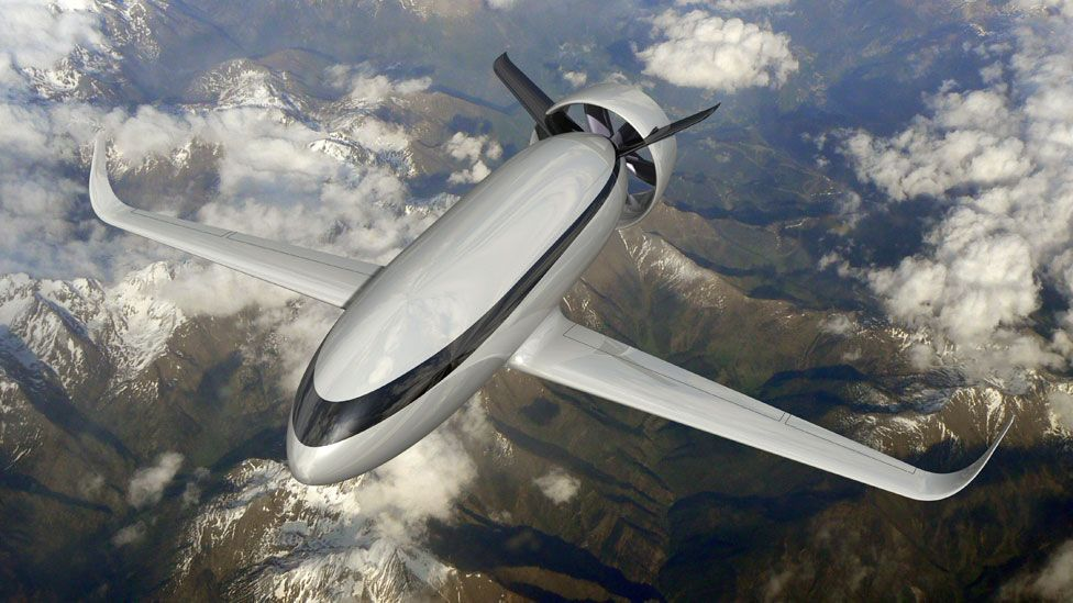 VoltAir is EADS proposed all-electric airliner, which they hope could be flying within 25 years. (Copyright: EADS)