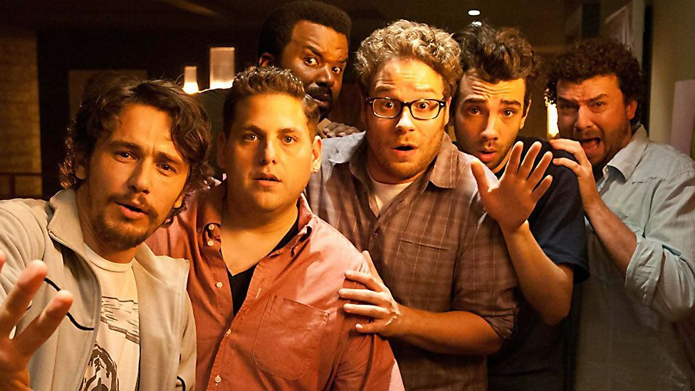 Seth Rogan and Evan Goldberg's comedy This is the End, also pokes fun at the genre, as Armageddon disrupts a debauched celebrity house party. (Columbia Pictures)