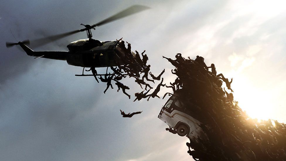 Dark fantasies of overpopulation are dramatised in World War Z. But they didn't chime with audiences and critics and the movie flopped. (Paramount Pictures)