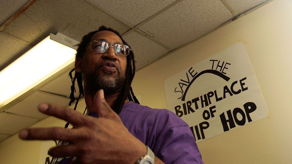 "DJ Kool Herc successfully campaigned to preserve 1520 Sedgwick Avenue. The block's recreation room has been officially named ""the birthplace of hip hop"". (Photo: Getty Images)"