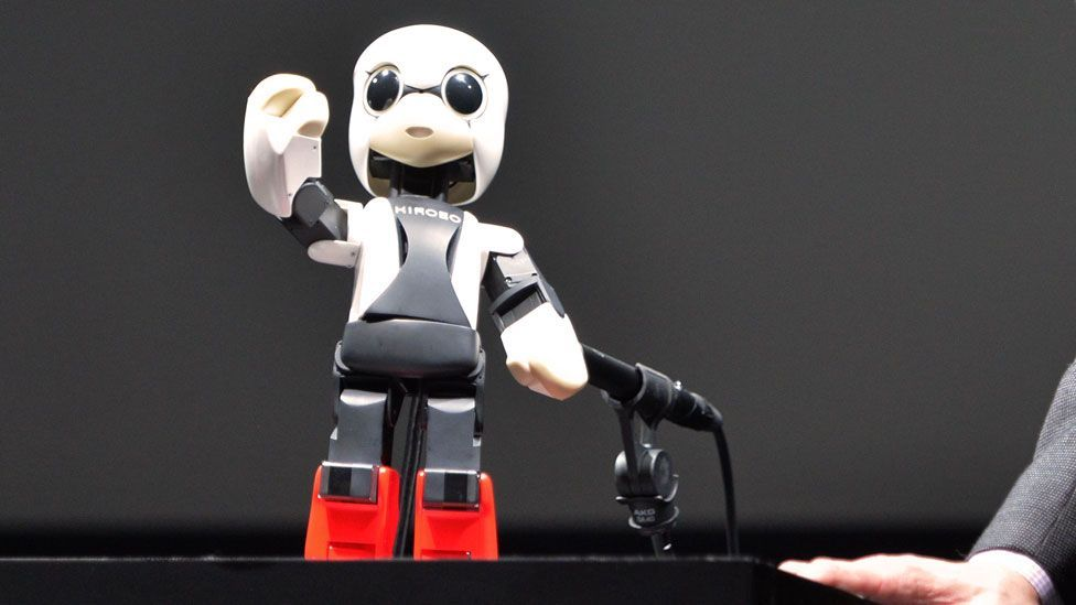 Kirobo, a small, talking humanoid robot has been sent into space to provide company for a Japanese astronaut on board the International Space Station. (Copyright: Getty Images)