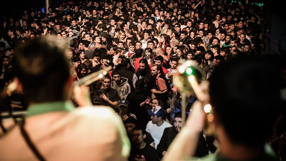 The city's hottest nightspots are now the backdrop for the genre's rise in popularity, with many clubs featuring digital cumbia nights. (Photo: Ceci Estalles)