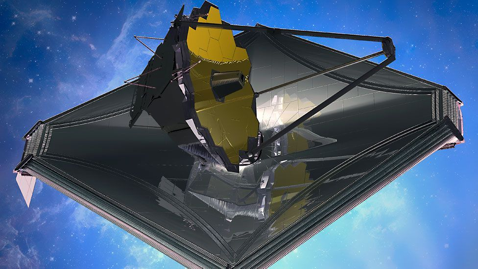 The James Webb Space Telescope, the successor to Hubble that is set to go into orbit around 2018, will search for planets orbiting nearby stars. (Copyright: Nasa)