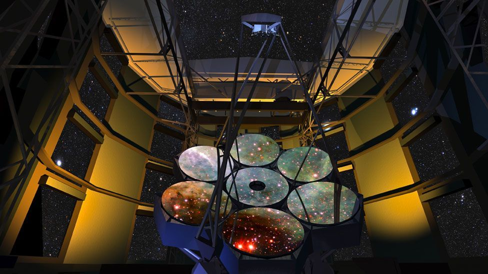 Another observatory being built is the Giant Magellan Telescope, which will have 10 times greater resolution than the Hubble Space Telescope (Copyright: Giant Magellan Telescope)