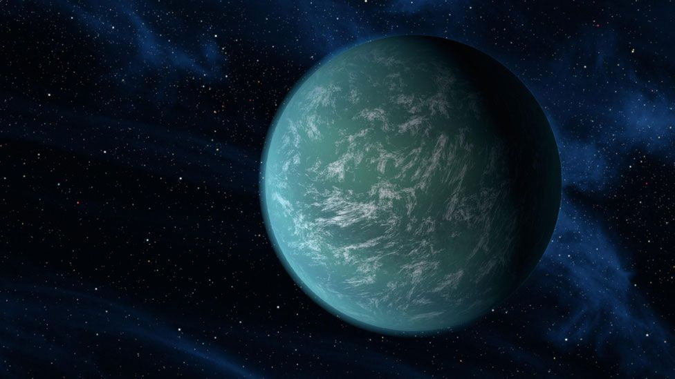 """In 2011, Kepler-22b was the first Earth-sized planet that Kepler confirmed orbited in a """"habitable zone"""" of a star like our Sun. (Copyright: Nasa)"""