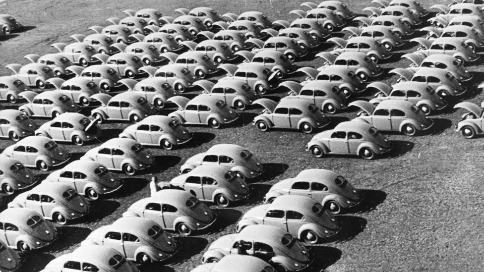 The British did not bite, but the air-cooled Beetle went into production in Germany for British forces stationed there. (Getty Images)